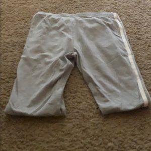 Gray and White Leggings